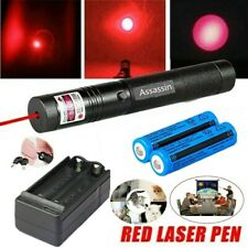 900Miles Red Beam Laser Pointer Pen 650nm Single Beam Lazer+2x18650+Dual Charger