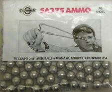 "TRUMARK SLINGSHOT 70 COUNT 3/8"" STEEL-BALLS SA375 AMMO SLINGSHOT STEELIES"