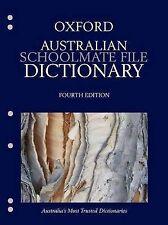 Oxford Australian Schoolmate File Dictionary By OUP University Press Australia