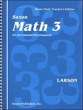 Saxon Math 3 Home Study Solutions / Teachers Manual
