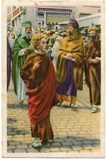 "CHROMO ""Folklore belge COTE D'OR 4"" - BRUGES + Procession du Saint-Sang - Jésus"