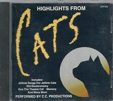 CD ALBUM 13 TITRES--HIGHLIGHTS FROM CATS--JELLICLE SINGS FOR JELLICLE CATS