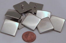 "8 Shiny Silver Tone Square Shank Buttons 7/8"" 23MM Lot # 2717"