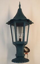 Decorative Oudoor Light Gothic Bottom Mount Cast Single Bulb Glass Lenses