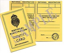 Ww2 National Registration Card With Endorsements - 1939 to 1943 (exact Copy)