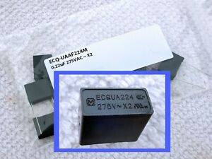 10 20x PANASONIC 0.22uF 275VAC X2 SAFETY FILM CAPACITOR Metallized Polypropylene