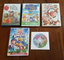 Winnie the Pooh DVD Movie Lot (5 DVDs) Springtime, Tigger, Piglet, Super Sleuths