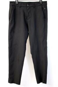"""LULULEMON Black COMMISSION PANTS Slim Straight Fit Activewear Mens 31 X 28"""""""