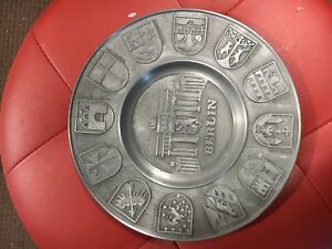 BERLIN CITY PEWTER WALL PLATE