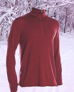 Icebreaker Mens XXL Long Sleeve 260g Merino Wool Tech Sports Ski Top Nwt $120