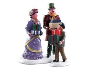 Lemax Walking Family (627), Weihnachtsdorf, Weihnachtsfiguren, Modellbau