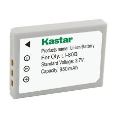 1x Kastar Battery for Olympus Li-80B T-100 T-110 X-36 X-960 KYOCERA EZ 4033