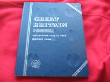 WHITMAN FOLDER FOR GB BRONZE PENNIES 1930-1966 GOOD CLEAN ONE Free UK post