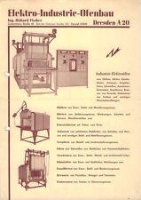 c132 Werbung, Elektro Ofen Ofenbau Industrie Schmiedeofen Dreden ~1955