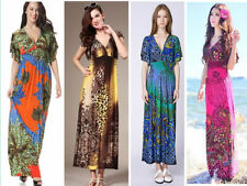 Polyester Animal Print Hand-wash Only Maxi Dresses for Women