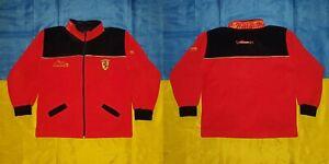 ● VINTAGE 1999 SCHUMACHER FERRARI F-1 FLEECE JACKET SIZE KIDS HEIGHT 152 CM ●