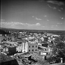 ESPAGNE c. 1950 - Panorama Vue sur la Ville Tortosa - Négatif 6 x 6 - Esp 204