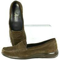 Cole Haan Air Penny Loafer Womens Sz 7.5 B Brown Suede Slip On Flat Shoes D32968