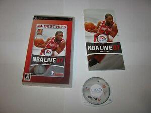 NBA Live 07 Japanese EA Best Version Playstation PSP Japan import US Seller