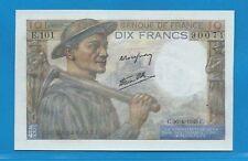 Gertbrolen 10 Francs ( MINEUR )  du 26-4-1945  E.101 Billet N° 250490071
