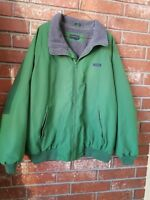 "Lands' End Mens AirCore-200 Fleece Lined Coat Jacket Green 53"" Chest"
