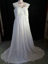 (16)Edles Damen Braut Standesamt Abend Kleid GR: 42