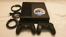 PlayStation 4, Model CUH-1116A, Jet Black, 480GB SSD + 2 controllers and a game