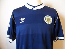 "VINTAGE SCOTLAND UMBRO Football shirt jersey 1986 Da Uomo Grande 42"""