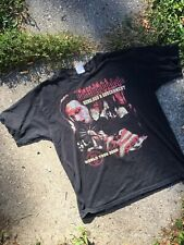 Vintage MARILYN MANSON Y2K TOUR Shirt Guns God & Government Size L Distressed