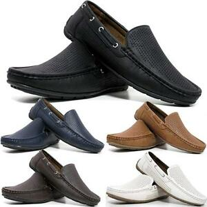 Mens New Slip On Casual Boat Deck Moccasin Designer Loafers Driving Shoes Size