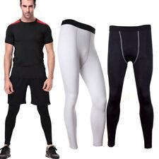 uomo pantaloni CONTENITIVE ALLENAMENTO FITNESS Livello Base Pelle Sport Calze