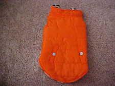 New listing Fetchwear Dog/Pet Orange Rain Resistant Coat/Jacket w/fleece Lining - Size M