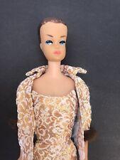 Rare Vintage Japan Barbie With Black Label Gold Dress And Jacket