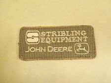 Stribling Equipment John Deere Iron On Patch- Construction, forestry etc Company