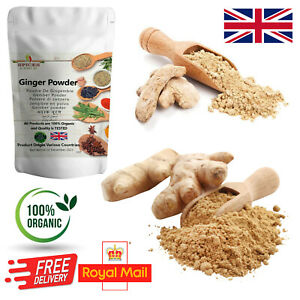 100% Pure Organic Ginger Powder Ground Spice A-Grade Quality Great Taste & Aroma