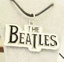 """The Beatles Pendant 20"""" Necklace With Leather Cord Chain Classic Rock Music"""