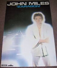 JOHN MILES RARE U.K. RECORD COMPANY PROMO POSTER FOR THE ALBUM 'ZARAGON' IN 1978