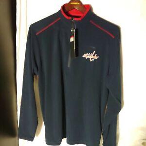 NEW Antigua Washington Capitals Glacier Men's 1/4 Zip Pullover Sweatshirt Large