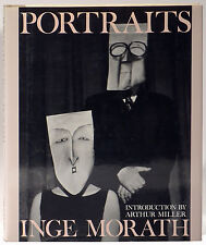 Inge Morath Portraits hardcover 1986 first edition writers artists mask series