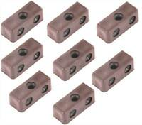 SECURIT S6707 BROWN JOINTING / MODESTY BLOCKS & SCREWS INCLUDED - PACK OF 8