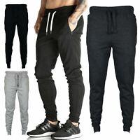 Mens Skinny Jogging Bottoms Slim Fit Joggers Fleece Pants Tracky Bottoms Pants