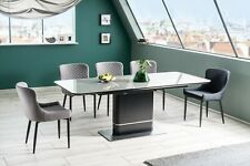 """""""PALLAS"""" Black and Grey Ceramic Marble Extending Dining Table 160cm - 210cm"""