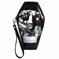 Universal Monsters Collage Frankenstein Dracula Zip Around Coffin Wallet