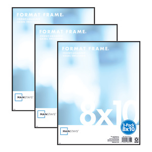 """8"""" x 10"""" Picture/Poster Format Frame, Set of 3 or 6 Mainstays"""