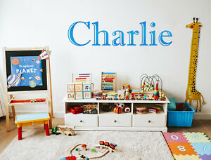 Personalised Name Word Text Wall Sticker Sign Decal Mural WallArt Gift Kids Room