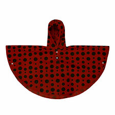 Kids Poncho Rain Coat Hooded Waterproof Unisex Children Ladybird 4 - 6 Years