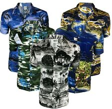 """46/"""" CHEST BRAND NEW MENS HAWAIIAN STAG EAGLE FANCY SHIRT M"""