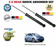 FOR SEAT TOLEDO III 1.6 1.8 1.9 2.0 2004-2009 2x REAR SHOCK ABSORBER SHOCKER SET