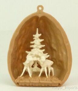 German Import: Little Deer & Trees  in Walnut Shell!