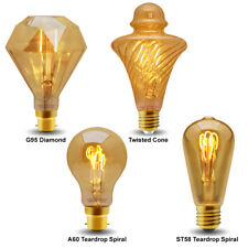 Vintage LED 2W Edison Style Filament Light Bulb B22 or E27 Twister ST58 A60 G95